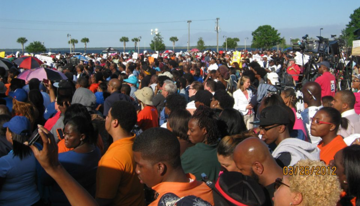 FMU Students at the National Rally for Justice in Sanford Florida, March 2012.
